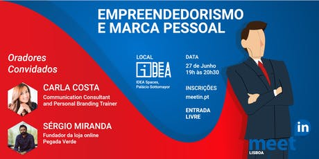 MeetIN Lisboa: Empreendedorismo e Marca Pessoal bilhetes