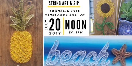 String Art & Sip at Franklin HillVineyards Easton tickets