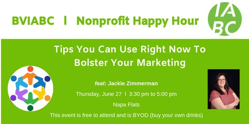 BVIABC | Nonprofit Happy Hour | Tips You Can Use Right Now To Bolster Your Marketing feat. Jackie Zimmerman