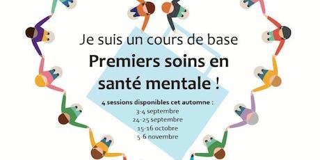 Formation: Premiers soins en santé mentale billets