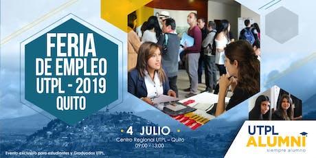 Feria de Empleo UTPL 2019 - Quito tickets