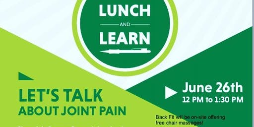 Chronic hip and knee pain lunch n learn