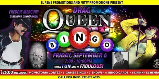 Freddie  Mercury Birthday Bingo Bash