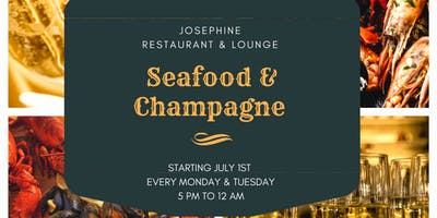 Seafood & Champagne Night (Atlanta) - Live DJ, Hookah & Bottle Service