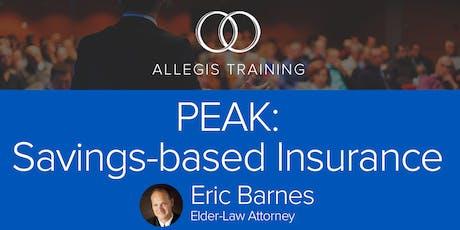 PEAK: Savings-based Insurance tickets