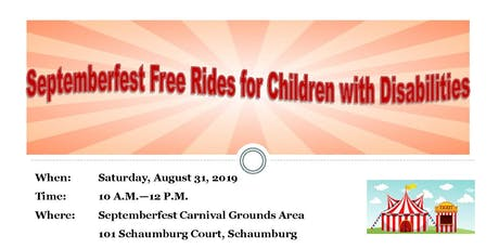 Septemberfest Free Rides for Children with Disabilities tickets