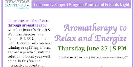 Aromatherapy to Relax and Energize tickets