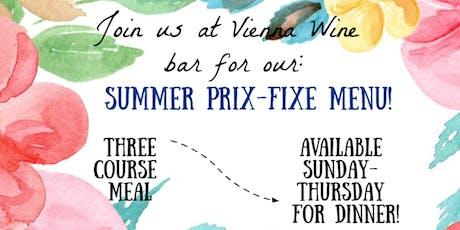 3 Course Prix-Fixe Menu tickets