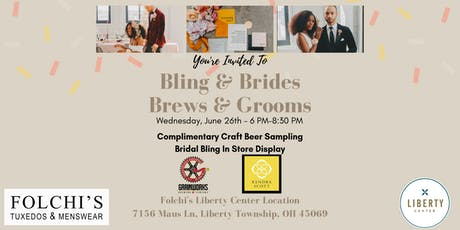 """You're Invited To Join Us For """"Bling & Brides, Brews & Grooms"""" entradas"""