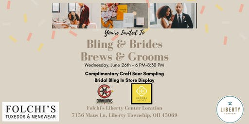 "You're Invited To Join Us For ""Bling & Brides, Brews & Grooms"""