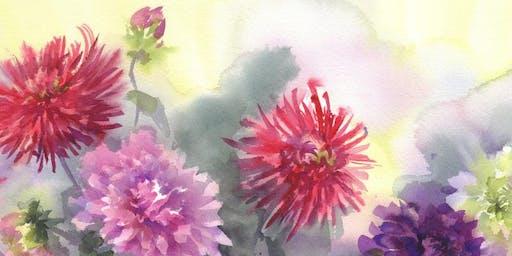 Dahlia Watercolor Class