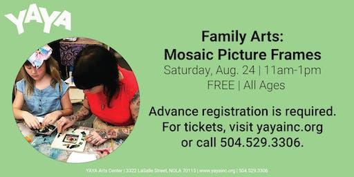 YAYA Family Arts: Mosaic Picture Frames