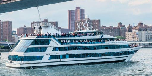 #1 NYC INFINITY Dance Music Cruise on Hornblower's Mega Yacht - Boat Party Around Manhattan