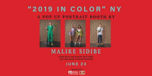 2019 in Color: NY - A Pop Up Portrait Booth by Malike Sidibe