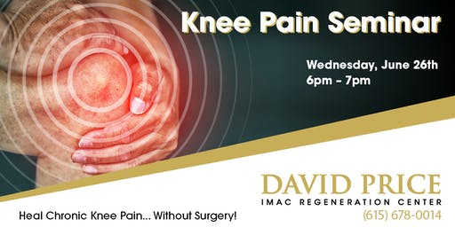 David Price Center Knee Pain Seminar - 6/26