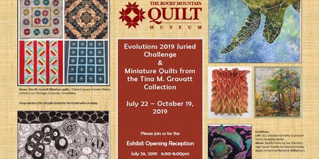 Opening Reception for Evolutions 2019 and Mini Quilts from Tina M. Gravatt tickets