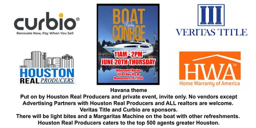 Houston Real Producers Boat Party in CONROE