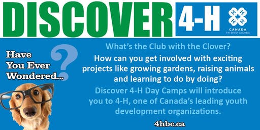 Discover 4-H BC Day Camp