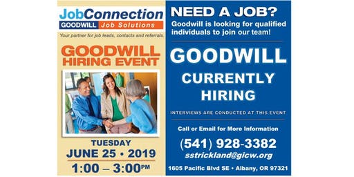 Goodwill is Hiring - Albany - 6/25/19