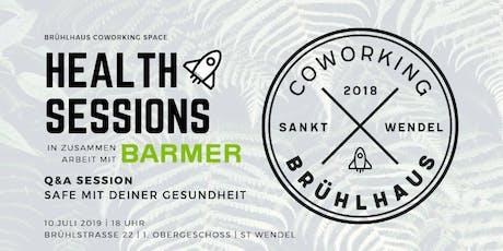 Brühlhaus Health Sessions | Q&A Session | Safe mit deiner Gesundheit Tickets