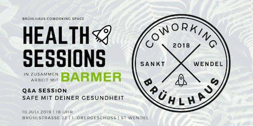 Brühlhaus Health Sessions | Q&A Session | Safe mit deiner Gesundheit