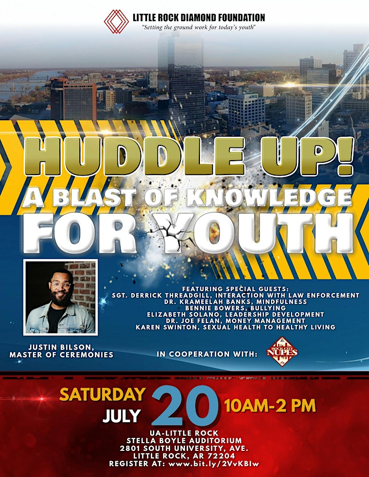 """Huddle Up! Living Your Best Life!  - """"A Blast of Knowledge for Youth"""" image"""
