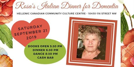 Rosa's Italian Dinner for Dementia tickets