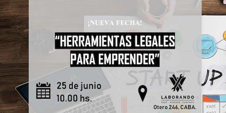 """Workshop """"Herramientas legales para emprender"""" entradas"""
