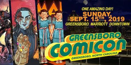 Greensboro Comicon September 15th 2019 tickets
