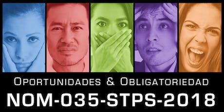 NOM-035-STPS-2018 - Factores de riesgo psicosocial en el trabajo boletos