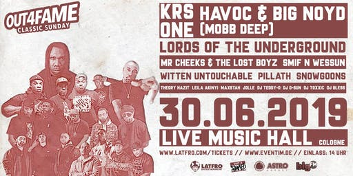 Out4Fame Classic Sunday - 30.06. - Live Music Hall Köln