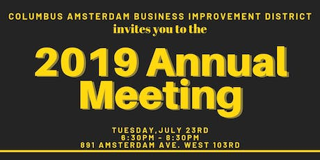 Columbus Amsterdam BID Annual Meeting 2019 tickets