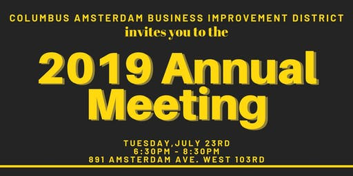 Columbus Amsterdam BID Annual Meeting 2019