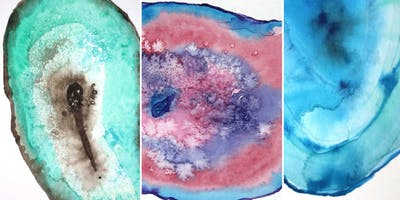 Wild Woman Project New MOON Circle ❤️ Crystal Geode WaterColors (FERNDALE)