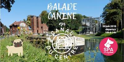 Balade Canine de la SPA La Louvière au Canal du Centre historique