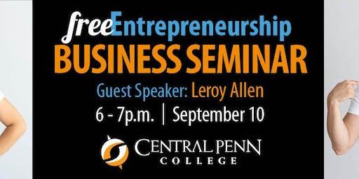 Entrepreneurship Speaker Series: Leroy Allen