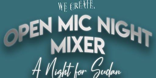 WeCreate Presents Open Mic Night Mixer: A Night for Sudan