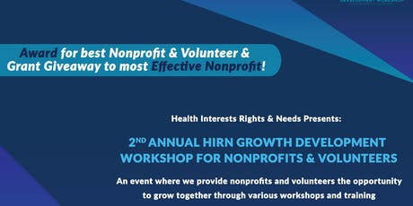 2ND ANNUAL HIRN GROWTH DEVELOPMENT WORKSHOP (AUG 3RD 2019) tickets