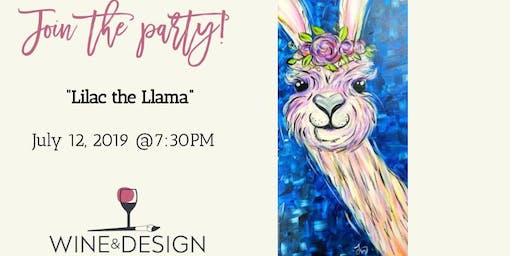 "Wine & Design ""Girls Night Out"" - Lilac the Llama - Sounds by DJ Blendz!"
