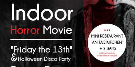 "INDOOR HORROR MOVIE + DISCO - ""Friday the 13th"" + Halloween Disco Party"" tickets"