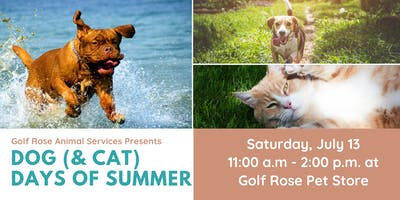 Golf Rose Dog (& Cat) Days of Summer Party