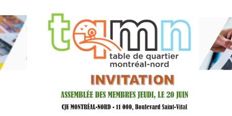 Assemblée des membres de la Table de Quartier de Montréal-Nord billets