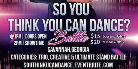 """So U think U can dance??? """"BATTLE"""" tickets"""