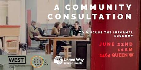 Informal Economy Community Consultation tickets