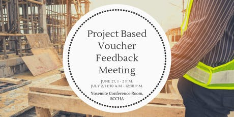 Project Based Voucher Feedback Meeting for Affordable Housing Developers  tickets