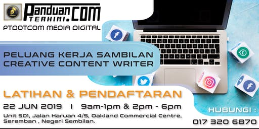 Kerja PartTime/Fulltime sebagai Creative Content Writer Panduanterkini.com