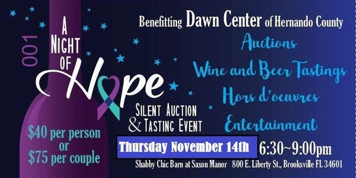 A Night of Hope for Dawn Center