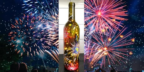 4th of July Fireworks Wine Bottle with Lights - Sip & Paint Party Art Maker Class tickets
