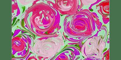Pour Painting Roses - Paint Sip & Create Party Art Class