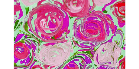 Pour Painting Roses - Paint Sip & Create Party Art Class tickets